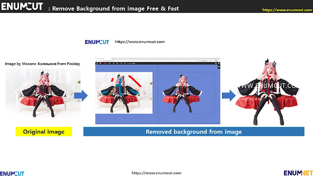 [ Enumcut ]  Succubus costume play model (woman model)  Photo - Remove Background From Image  (Example)