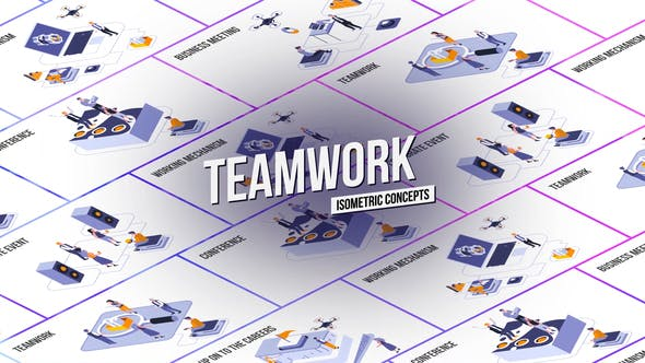 Teamwork - Isometric Concept[Videohive][After Effects][28986962]