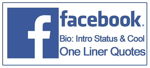 Facebook Bio Best Of Cool One Liner Quotes And Status