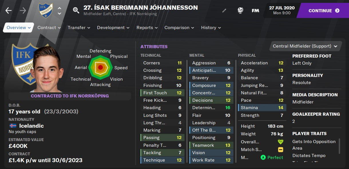 Isak Johannesson Football Manager 2021