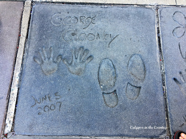 George Clooney's footprints in Hollywood