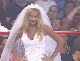 WCW Bash at the Beach - Ms Hancock (Stacy Keibler) faced Daffney in a wedding gown match