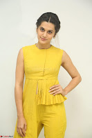 Taapsee Pannu looks mesmerizing in Yellow for her Telugu Movie Anando hma motion poster launch ~  Exclusive 105.JPG
