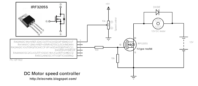 dc motor speed control pic microcontroller mikroc code
