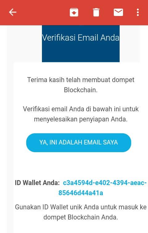 Maka Anda akan otomatis masuk ke Dashboard Blockchain.info, langkah selanjutnya yaitu cek email yang telah anda daftarkan tadi kemudian klik link aktivasi yang telah diberikan oleh pihak Blockchain.