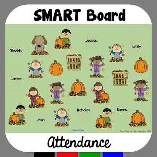 Pumpkin Attendance for the SMARTBoard
