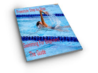 image of a young woman relaxing whilst swimming freestyle in a pool with lane ropes: Freestyle Step by Step Swimming For Beginners The Guide cover