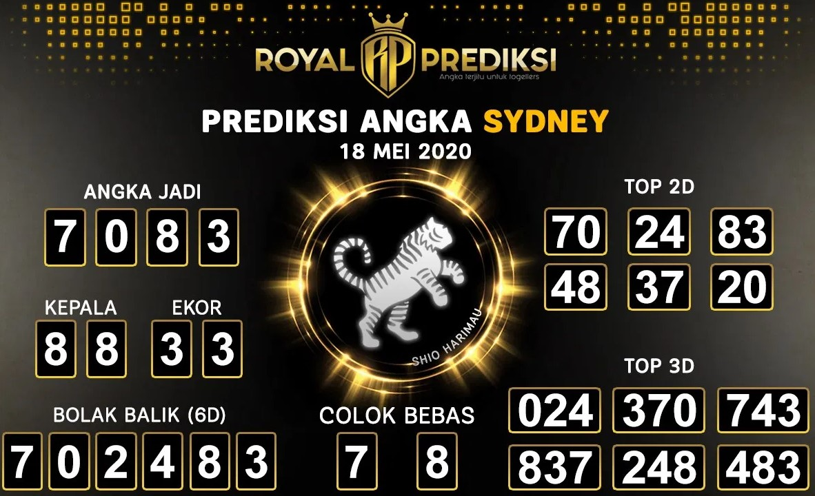 Prediksi Togel Sydney Senin 18 Mei 2020 - Royal Prediksi