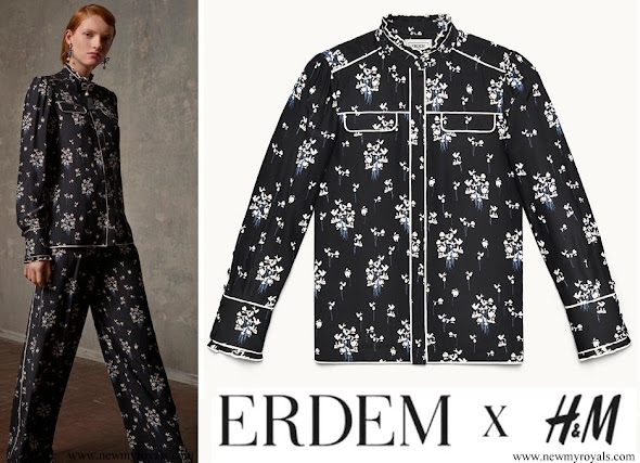 Crown Princess Victoria wore a dress by ERDEM X H&M Collection