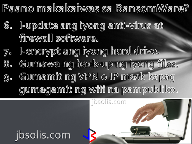 "One of the biggest news today is the massive ransomware attack that spread like wildfire and affected thousand of private companies, public organizations and individuals around the globe. Ransomware attacks are not new, but the speed of the recent hacking has alarmed security experts. In a few hours, the ""WannaCry""malware had already infected victims in at least 99 countries, including Russia, Turkey, Germany, Vietnam, and the Philippines - and is thought to be spreading at a rate of five million emails per hour. It is believed to be the biggest attack of this type ever recorded. Most people are not familiar with the differences between technical terms virus and malware, or phishing and hacking. Now that a huge ransomware has hit globally, it's time to learn about this latest form of attack.  What is a RansomWare?  A ransomware is a virus used to extort money from unwitting victims. It is programmed to encrypt certain files on the computer and then blackmails the user for money in exchange for the access to the files. Any files encrypted cannot be accessed or opened by the victim unless he gets the decryptor or the key to decrypt the file. Payment is usually done by electronic currency like ""bitcoin,"" which is almost impossible to trace.  How do I get a RansomWare in my System? A ransomware is not limited to computers. Smartphones and other electronic gadgets and equipment are susceptible to ransomware or any other virus in general. Getting your system infected happens in many ways. The most common form of infection occurs via email attachments or malicious links. Opening such attachments, or clicking on malicious links, installs the ransomware in your system. It then spreads throughout the network, and can even send copies of itself through email, using the contacts listed in your system (like MS Outlook). Virus infection by USB drives are also common but the infection rate is slower and more limited locally.  How can I protect Myself from RansomWare?  There are effective ways to avoid RansomWare attacks, and most of them are actually routine. Here are some of the things you must do (on a regular basis): Use a reputable antivirus software. There are some free antivirus that you can download. They may not offer full protection, but that is better than nothing at all. Also, free antivirus is better than ""pirated"" copies of antivirus since the bootleg copies usually have vulnerabilities built into them by the software pirates. Set up a popup blocker. Since viruses are downloaded from malicious links that pop-up from other websites, it is a good practice to set-up a pop-up blocker. Most internet browsers today have a built-in pop-up blocker but you need to set it up yourself. Be cautious about clicking links inside emails. If you get an email from an unknown sender, it is better to ignore it or delete immediately. Even if you know the sender, be wary of the contents of the email, especially if it contains links, or if the email itself seems outside the character of the sender. Stay clear suspicious websites. Keep your browsing habits well within reputable websites. Going further into suspicious websites increases the risk you take. In some cases, you do not even have to click anything on a website, to let that site download malicious software into your PC. Update your operating system (windows) on a regular basis. It is also better if you schedule your PC to update automatically. Update your anti-virus and firewall software. Companies developing antivirus are often quick in responding to threats and usually patch their software to prevent further attacks. Encrypt your hard drive. Encrypting your hard drive yourself will prevent others from doing it, and it's you who holds the password, not some unknown criminal from another country. Back-up your files often. If you can manage to do so, keep a back-up of your most precious files off line in a separate external drive. An online storage is also recommended. If you use public wifi often, protect yourself further by masking your IP or using a VPN.  How do I know if my computer is Infected?  You will not miss a ransomware infection since it will alert you that your PC is now a hostage. The display will lock up your browser, certain folders, or the complete system. What access you have left is limited to contacting the perpetrators and providing the ""ransom.""  You should also be aware that some ransomware are disguised as ""real"" entities like Mircosoft, Antivirus companies, or even Government entities like the FBI, forcing you to pay an upgrade or fine. What to do if you suspect your computer is infected?  Disconnect your computer from the network and immediately shut down. Inform your network operator if the PC is connected to the network. This will help prevent further spread of the virus. Note the last email, file or website you have opened. If you must verify that you have a back up of your files offline in a hard drive or online in a cloud, do not attempt to open your files in the same network, but instead go to another network."