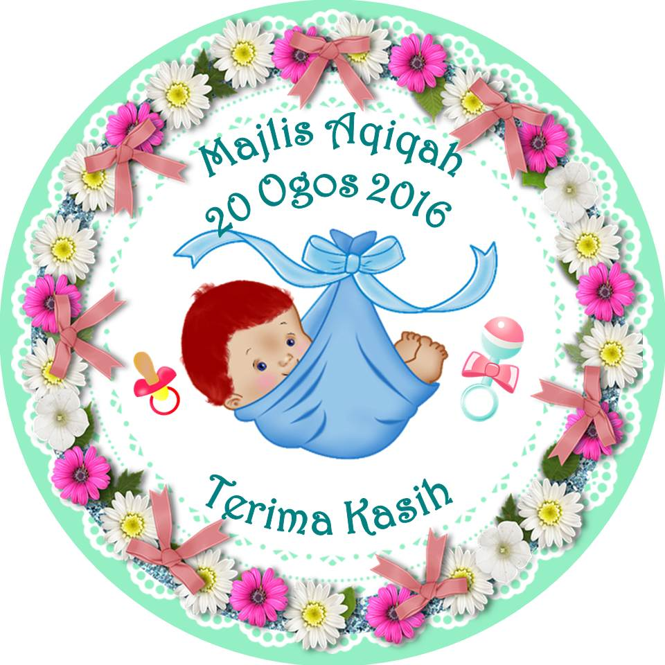 Contoh Sticker Majlis Aqiqah Unixpaint