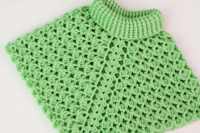6-Crochet Imagenes Poncho cuello de tortuga a crochet y ganchillo por Majovel Crochet