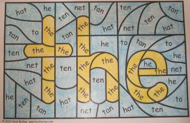 Number Names Worksheets fun sight word worksheets : The Popcorn Reader: Hidden Sight Words: Idea #140