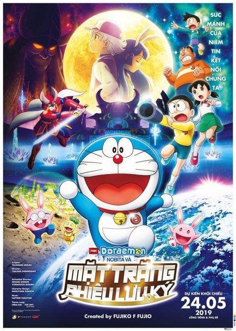 Xem Anime Doraemon: Nobita và Mặt Trăng phiêu Lưu Ký - Doraemon Movie 39 : Chuyến Thám Hiểm Mặt Trăng CAM Doraemon Movie : Chronicle Of The Moon Exploration (2019) VietSub