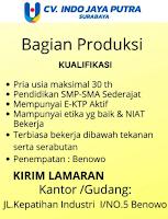 Info Loker Surabaya di CV. Indo Jaya Putra Februari 2021