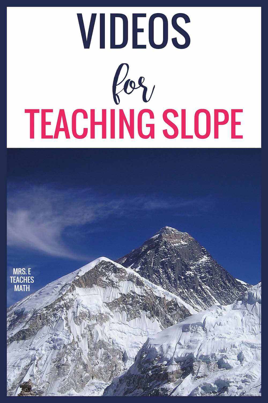 Good Videos For Teaching Slope  Mrs E Teaches Math-6638