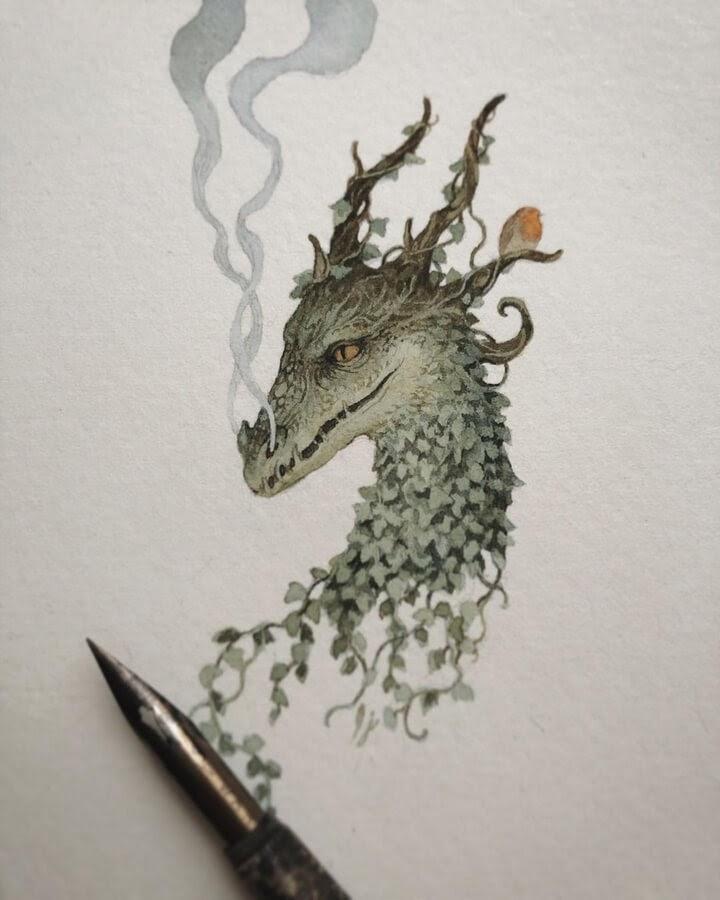 06-Spring-dragon-awaking-Lily-Seika-Jones-www-designstack-co