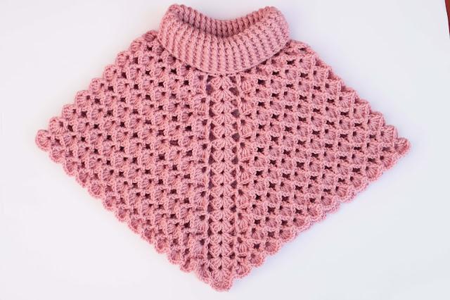 2-Crochet Imagenes Poncho cuello de tortuga a crochet y ganchillo por Majovel Crochet