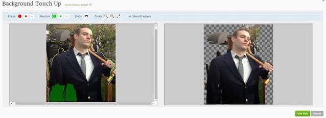 إزالة و تغيير الخلفية من على الصور