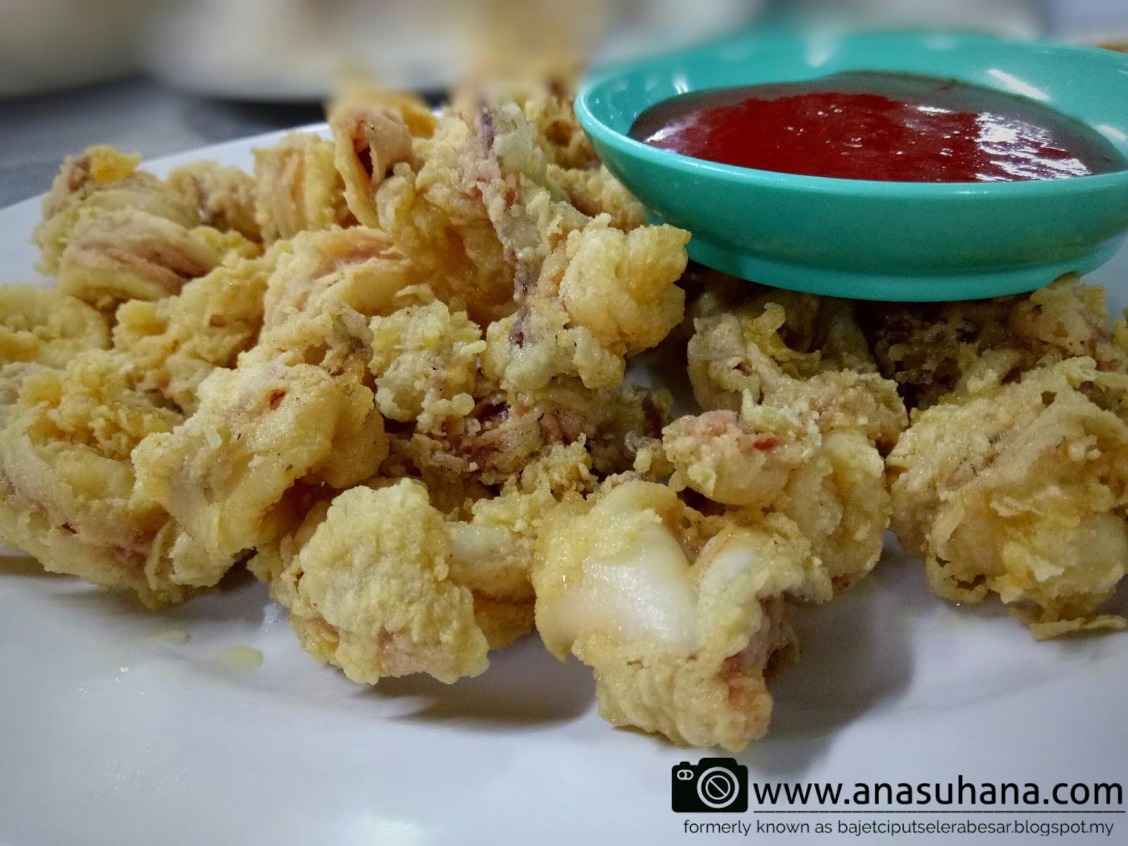 Tempat Menarik di Melaka : Makan Malam di Ikan Bakar Parameswara - Sotong Goreng Tepung