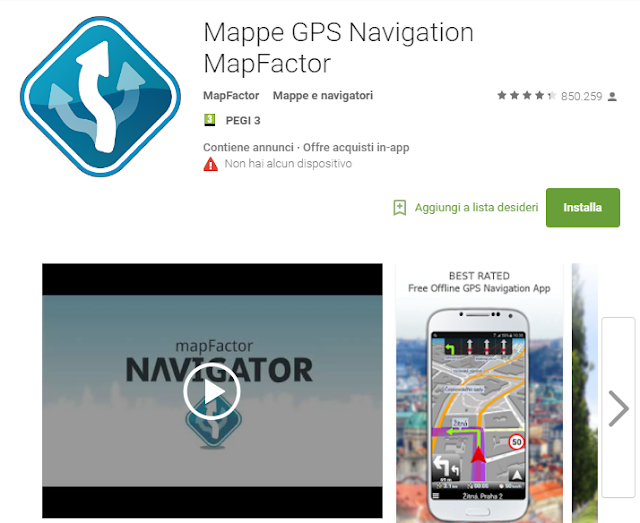 Mappe GPS Navigation MapFactor screen-shot