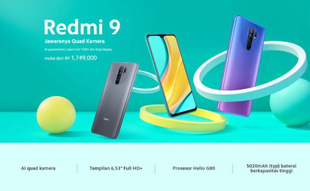 Spesifikasi lengkap Redmi 9