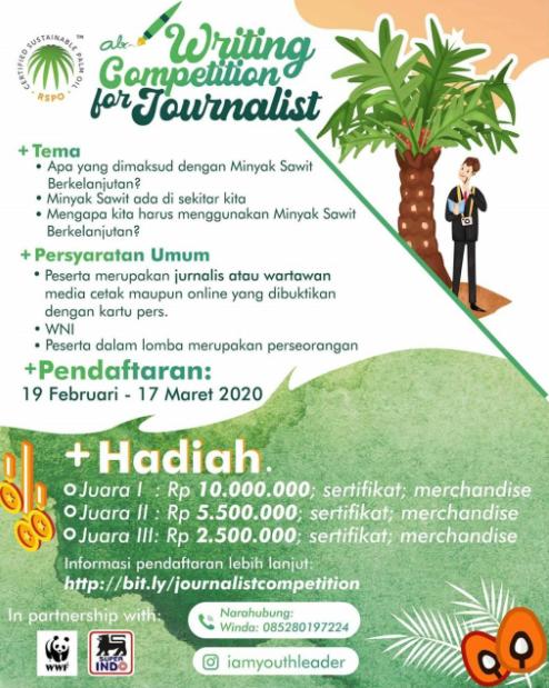 Lomba Menulis Nasional 2020 [Journalist Writing Competition], Gratis