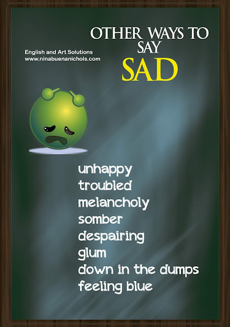 other ways to say sad
