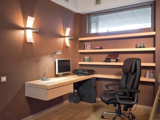 oficina color marrón