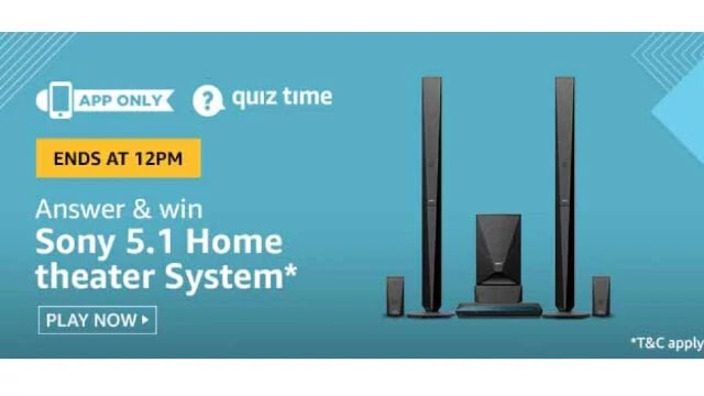 Amazon Sony 5.1 Home Theater System Quiz Answers - Win Sony 5.1 Home Theater System