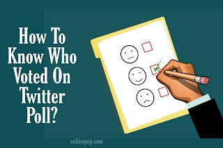 How to see who voted on twitter poll?