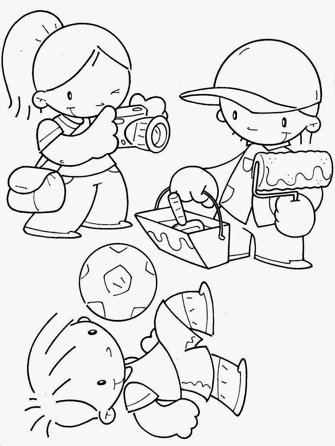 Desenho do Dia do Trabalho para colorir