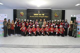 Kasrem 162/WB Sambut Siswa Mengenal Nusantara Provinsi Bengkulu di Makorem