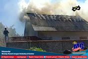 Kobaran Api Melalap Rumah Juragan Tembakau di Jember