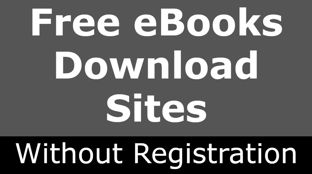 Free eBooks Download Sites Without Registration