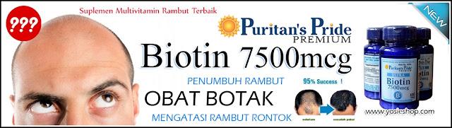 Puritan's Pride ULTRA BIOTIN 7500mcg Suplemen Multivitamin Rambut Terbaik - Penumbuh Rambut- Obat Rambut 100% Original USA