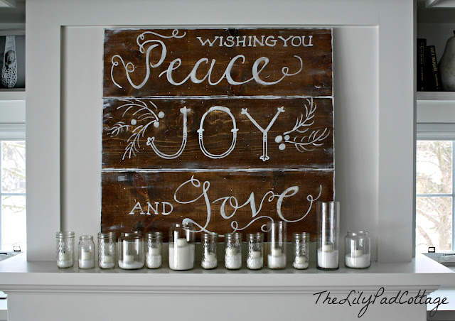peace joy and love sign
