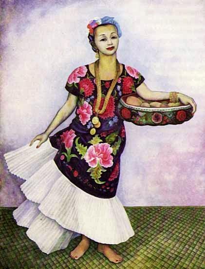Retrato de Dolores Olmedo - Diego Rivera e suas principais pinturas ~ Muralismo mexicano