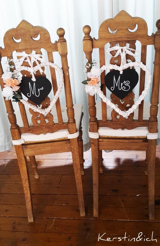 Hochzeit antik Stühle