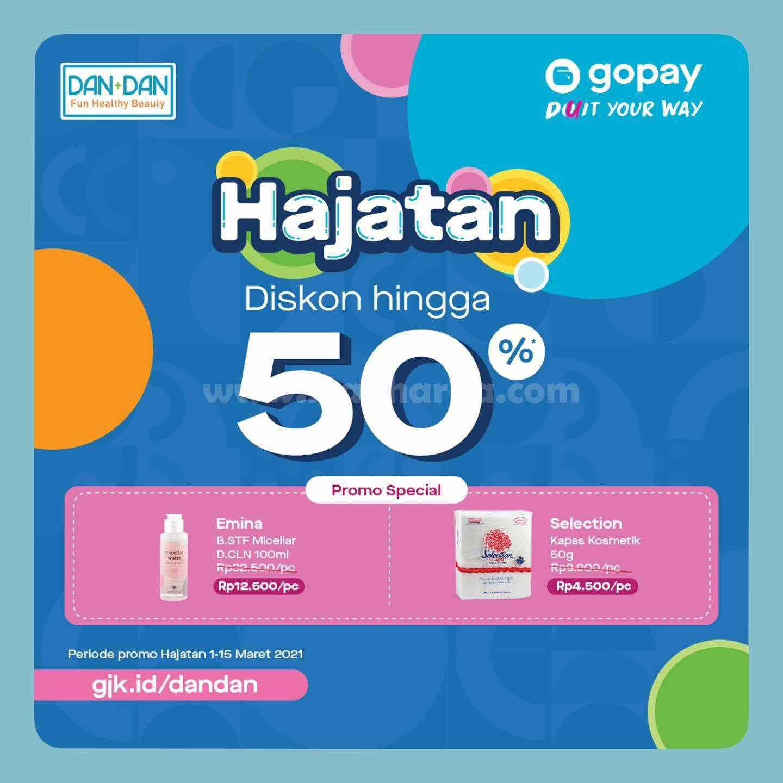 Promo DANDAN GoPay Diskon 50% Periode 1 - 15 Maret 2021