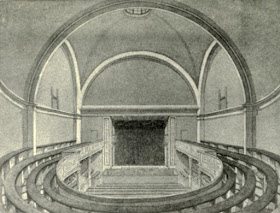 Interior of the Lyceum in 1790  from The Lyceum and Henry Irvine by A Brereton (1903)