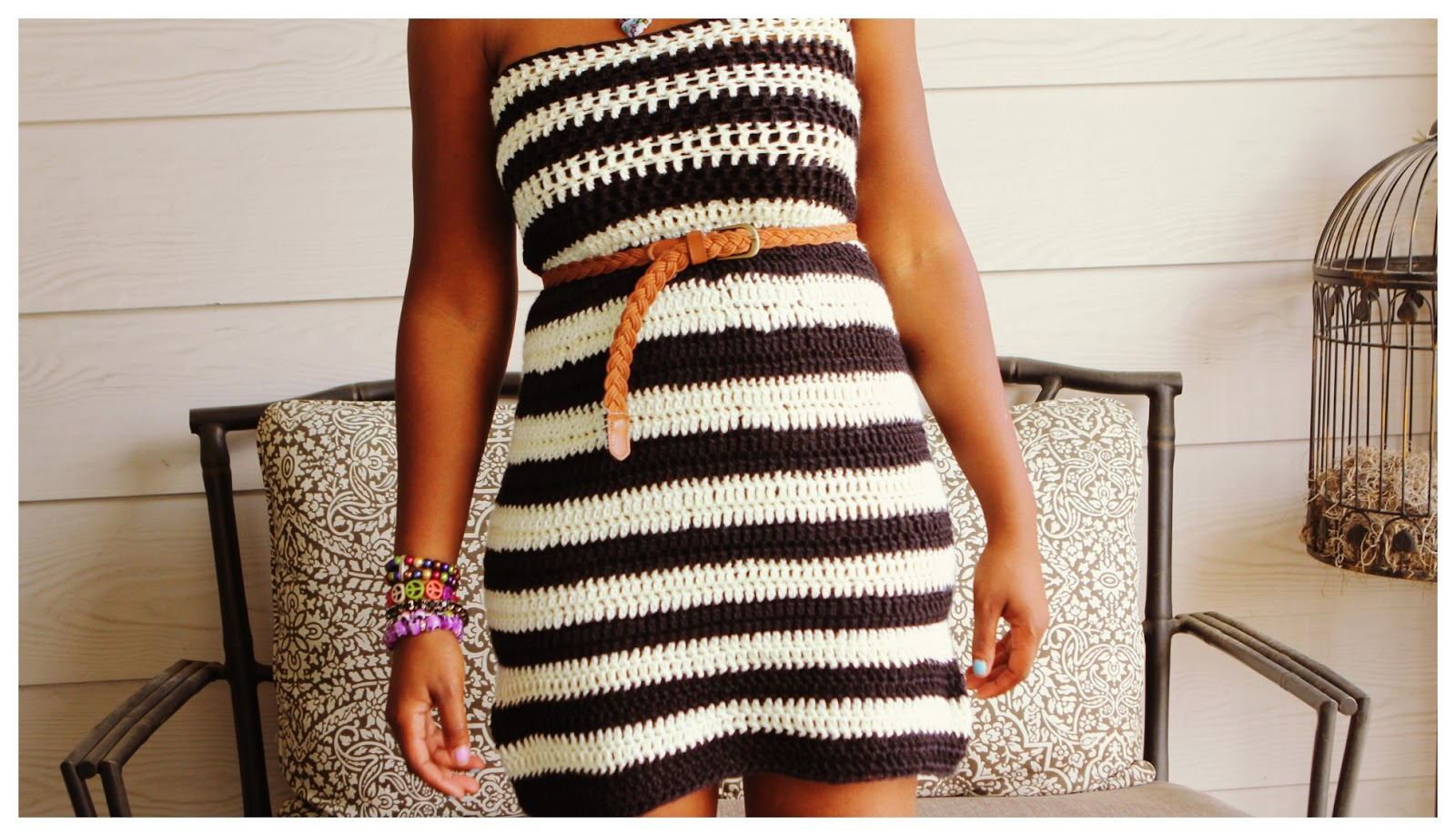 the dream crochet blog.: HandMade: The Striped Strapless ...