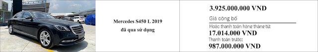 Giá xe Mercedes S450 L 2019 hấp dẫn bất ngờ