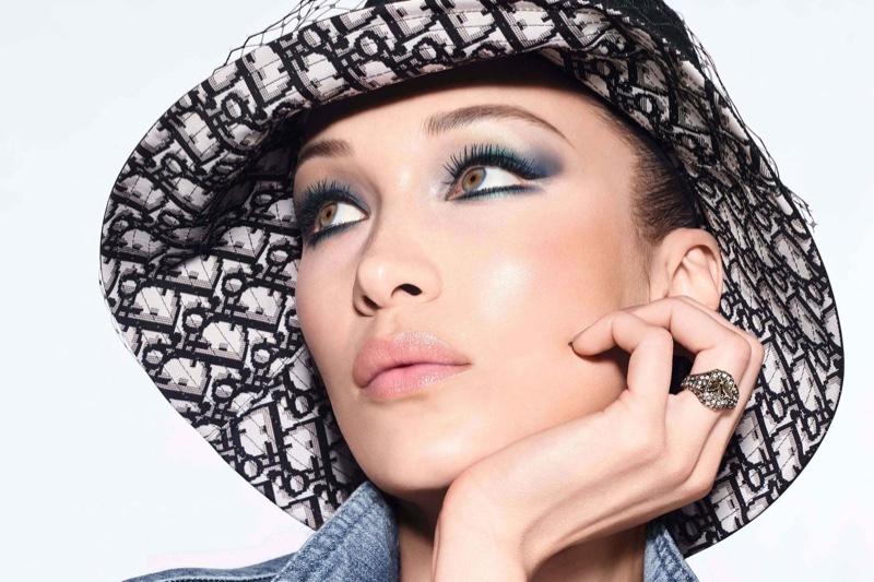 Model Bella Hadid fronts Dior Diorshow 2020 makeup campaign.