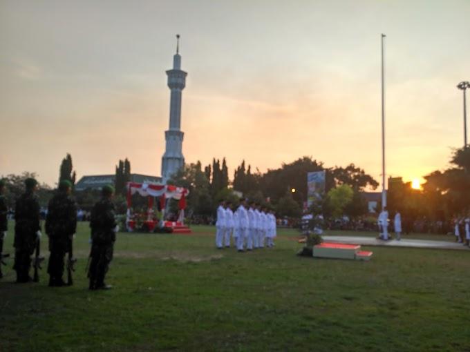 Upacara Bendera Kemerdekaan di alun alun Kabupaten Pati