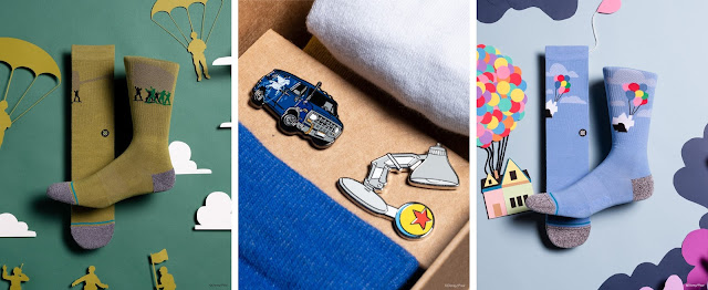 Pixar-themed socks and pins from STANCE