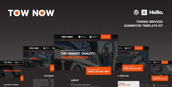 Best Towing Services Elementor Template Kit Review