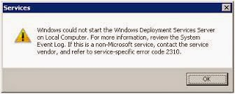 Windows Deployment Service ( WDS ) and Errors and Solutions