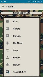 BBM MOD Tema ARMY V3.0.1.25 Apk KEREN BY CIBEN DOANK Terbaru 2016 Gratis