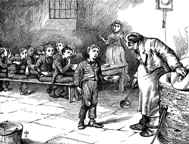 a J. Mahoney illustration for Oliver Twist